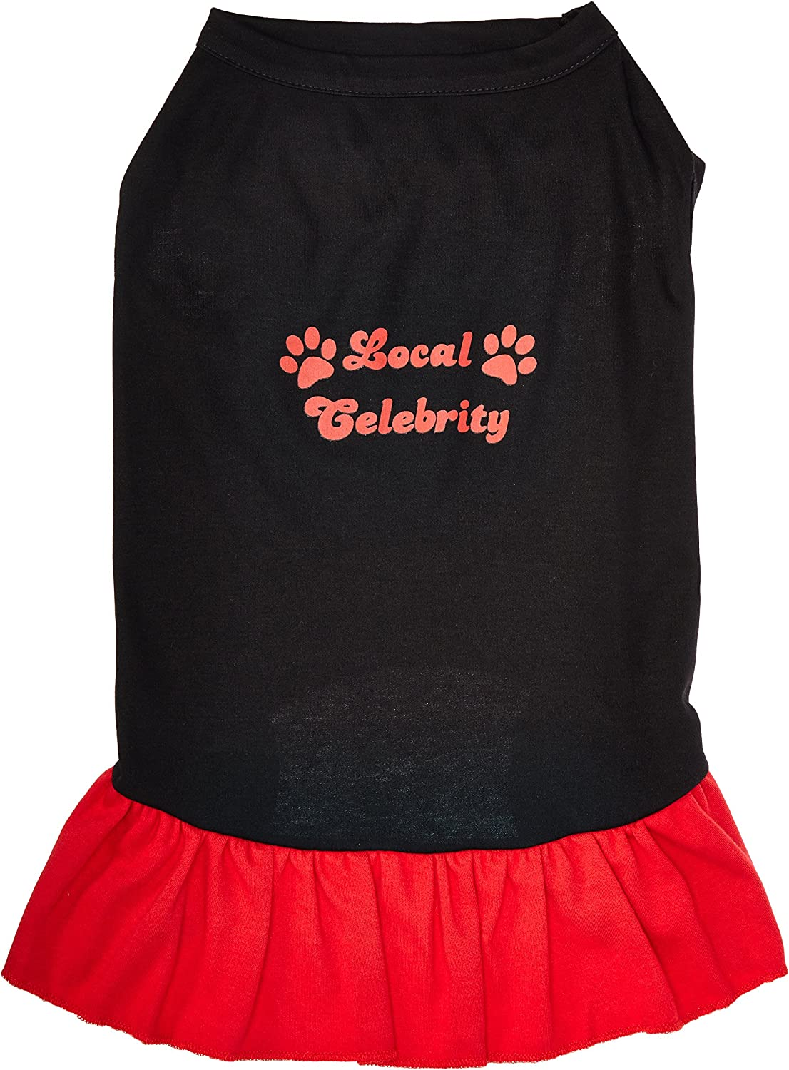 Mirage Pet Products 18Inch Local Celebrity Screen Print Dress, XXLarge, Black with Red