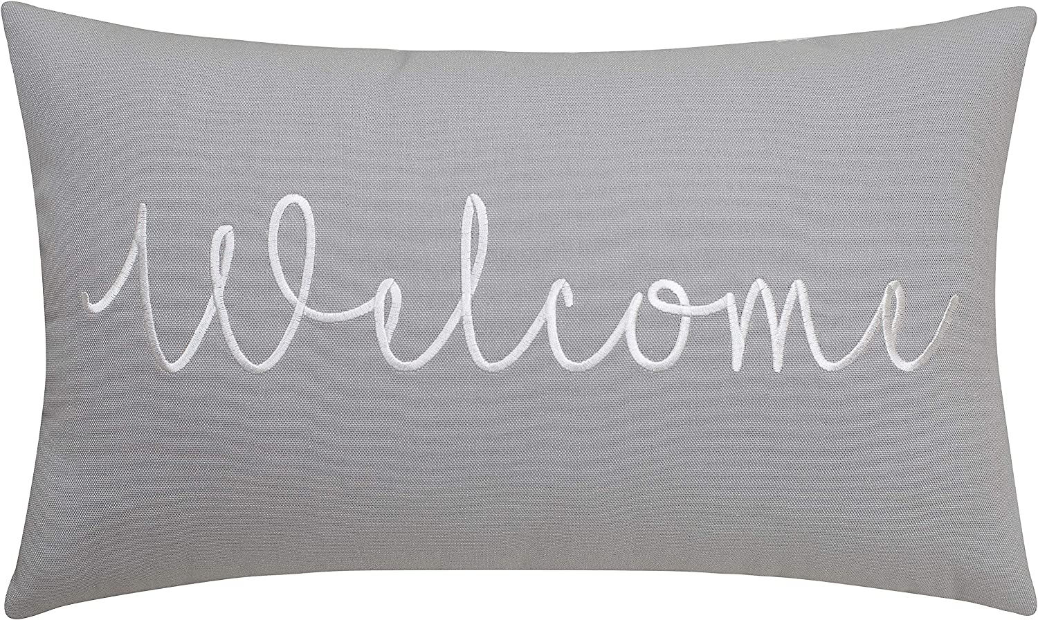 EURASIA DECOR Safety and NEW before selling trust Welcome Embroidered Lumbar Throw Pillow Accent Cov