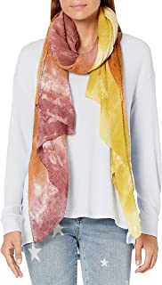 Steve Madden womens Tie Dye Color Block Pleated Day Wrap