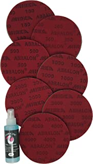 bowlingballfactory.com Abralon Sanding Pads Resurfacing Kit_Set Includes All 7 Grits (Set of 7) + One Bottle of Ultra Tac (4oz) Bowling Ball Cleaner_ 8 Total Items in Bundle