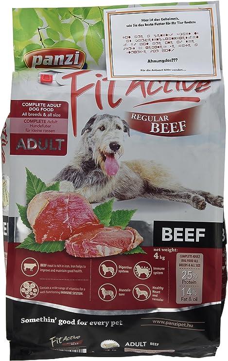 PANZI Saco Perro Adulto Regular Ternera, 4 kg, Perro