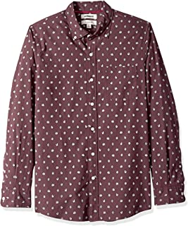 Amazon Brand - Goodthreads Men's Slim-Fit Long-Sleeve Printed Poplin Shirt