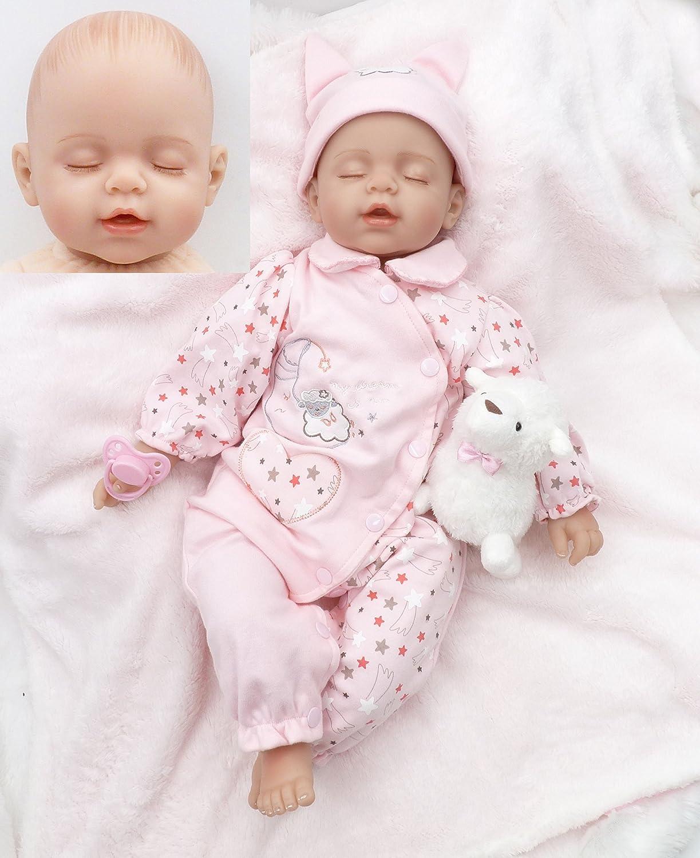 20inch 50cm Realistic Soft Vinyl Silicone Reborn Baby Doll Real Life Like Newborn Dolls Sleeping Baby Doll Xmas Gift