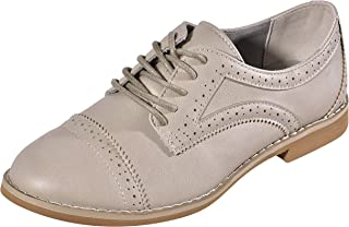 Alyn Back to School Sale Top Selling Classic Oxford Lace Up for Women Ladies Teen Girls (Assorted Colors)