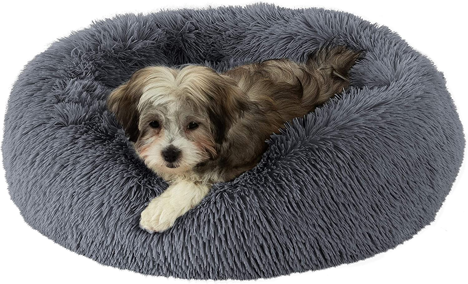 GM PET SUPPLIES Donut Cuddler Dog Orthopedic SEAL limited product High material Calming Round Bed -