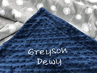 Baby Blanket, Personalized Baby Blanket, Baby Shower Gift, Newborn Gift, Dandelion Baby Blanket, Floral Baby Blanket, Grey Flower Baby Blanket