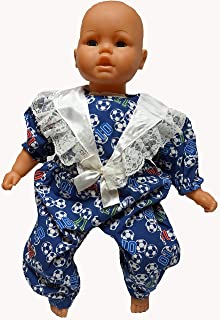Doll Clothes Superstore Soccer Print Jumpsuit Fits Big Baby Dolls 21- 23 Inch