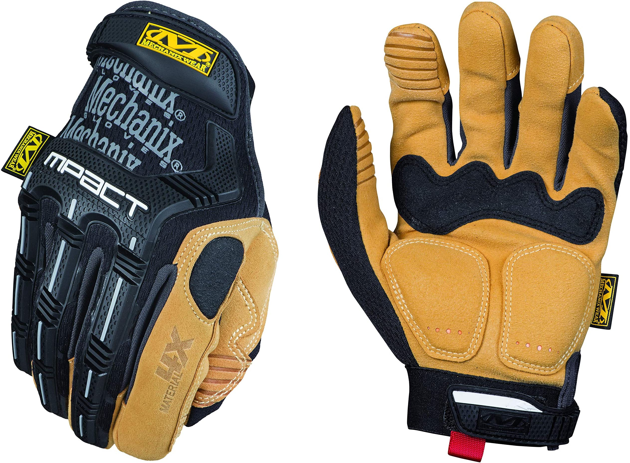 Mechanix Wear MP4X-75-009 : Material4X M-Pact Work Gloves (Medium, Brown/Black)