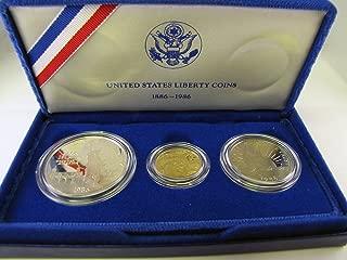 1986 liberty 3 coin set