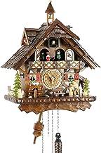Eble 24722 Horloge Coucou /à Quartz en Bois v/éritable /à Piles 21 cm