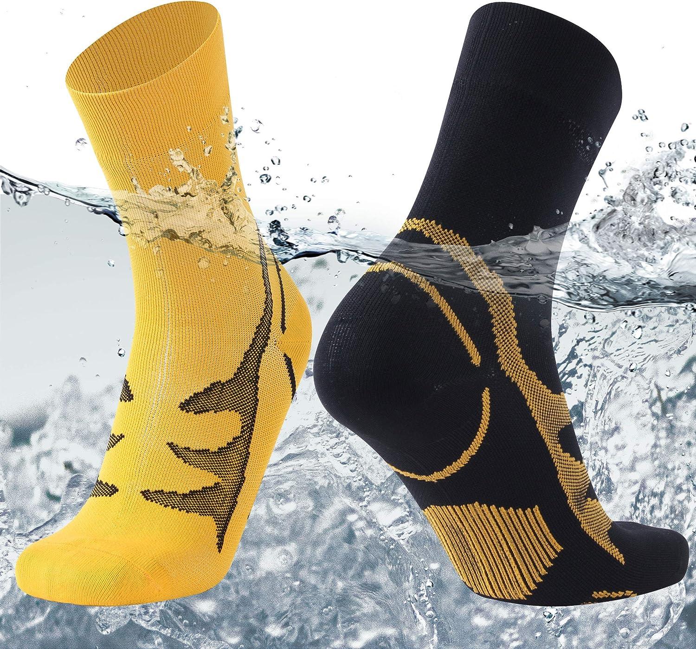 SuMade 100/% Waterproof Socks Unisex Winter Warm Breathable Cushioned Wicking Hiking Cycling Skiing Crew Socks