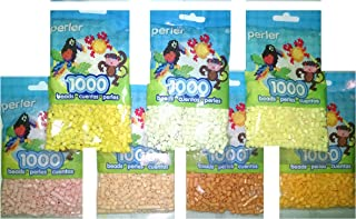 Perler Bead Bag, 7 Pack Group (Yellow, Pastel Ylw, Cheddar Creme, Butterscotch, Sand, Peach)