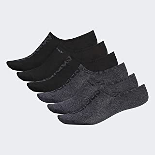 adidas Men's Superlite Linear Super No Show Socks (6-Pack)