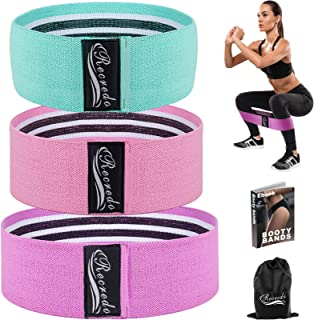 Recredo Booty Bands, Non Slip Resistance Bands for Legs and Butt, Workout Bands Exercise Bands Glute Bands for Women, 3 Pa...