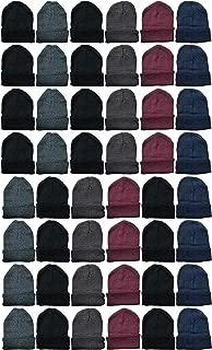 48 Pack Wholesale Bulk Winter Thermal Beanies Skull Caps, Thermal Gloves Unisex