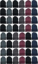Yacht & Smith 48 Pack Wholesale Bulk Winter Thermal Beanies Skull Caps, Thermal Gloves Unisex