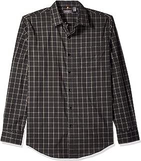 Van Heusen Men's Traveler Stretch Long Sleeve Button Down Black/Khaki/Grey Shirt