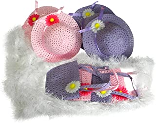 Butterfly Twinkles Girls Tea Party Hats Purses Boas Dress Up Play Set for 4 Sun Hats Costumes