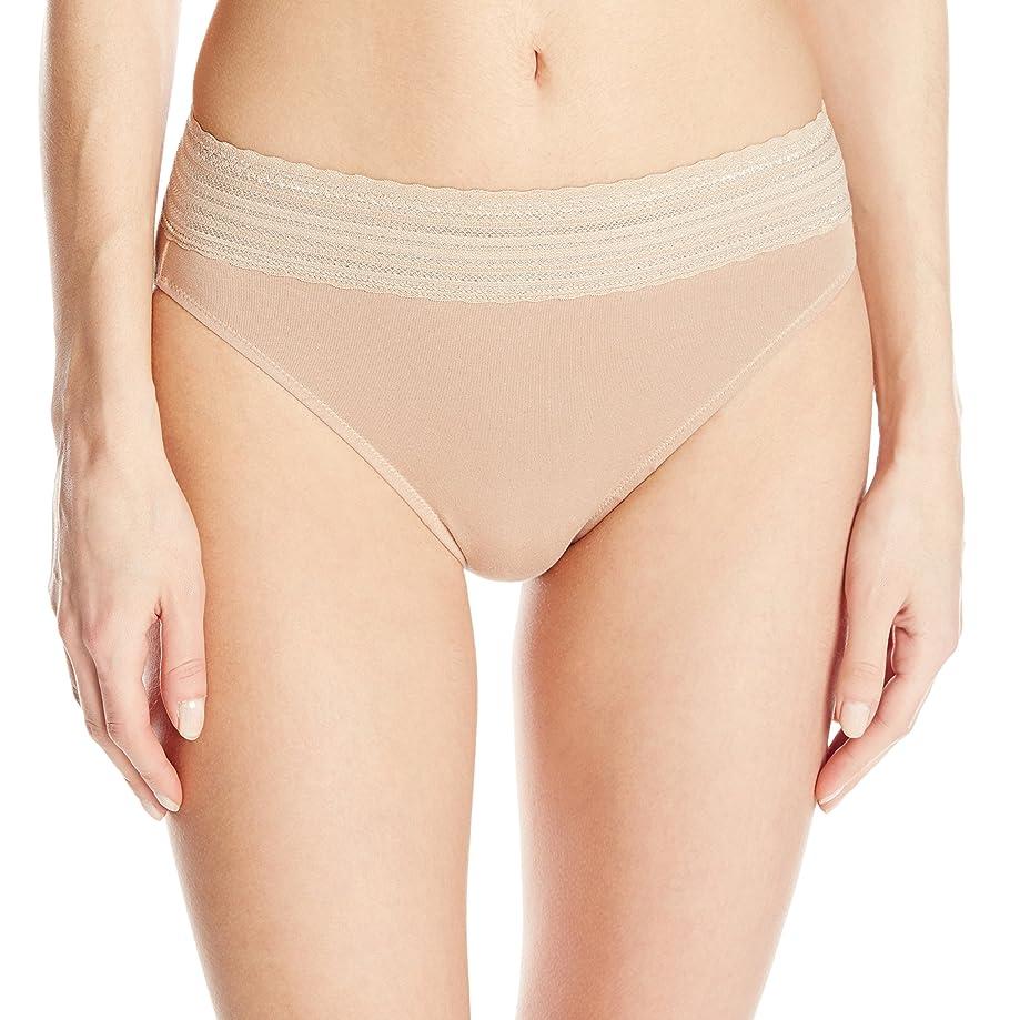 Warner's No Pinching No Problem Cotton Lace Hi-Cut Panty