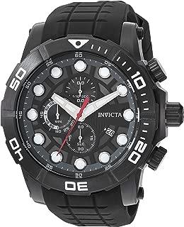 Invicta Sea Hunter 28273 - Reloj de cuarzo para hombre (acero inoxidable, correa de silicona), color negro
