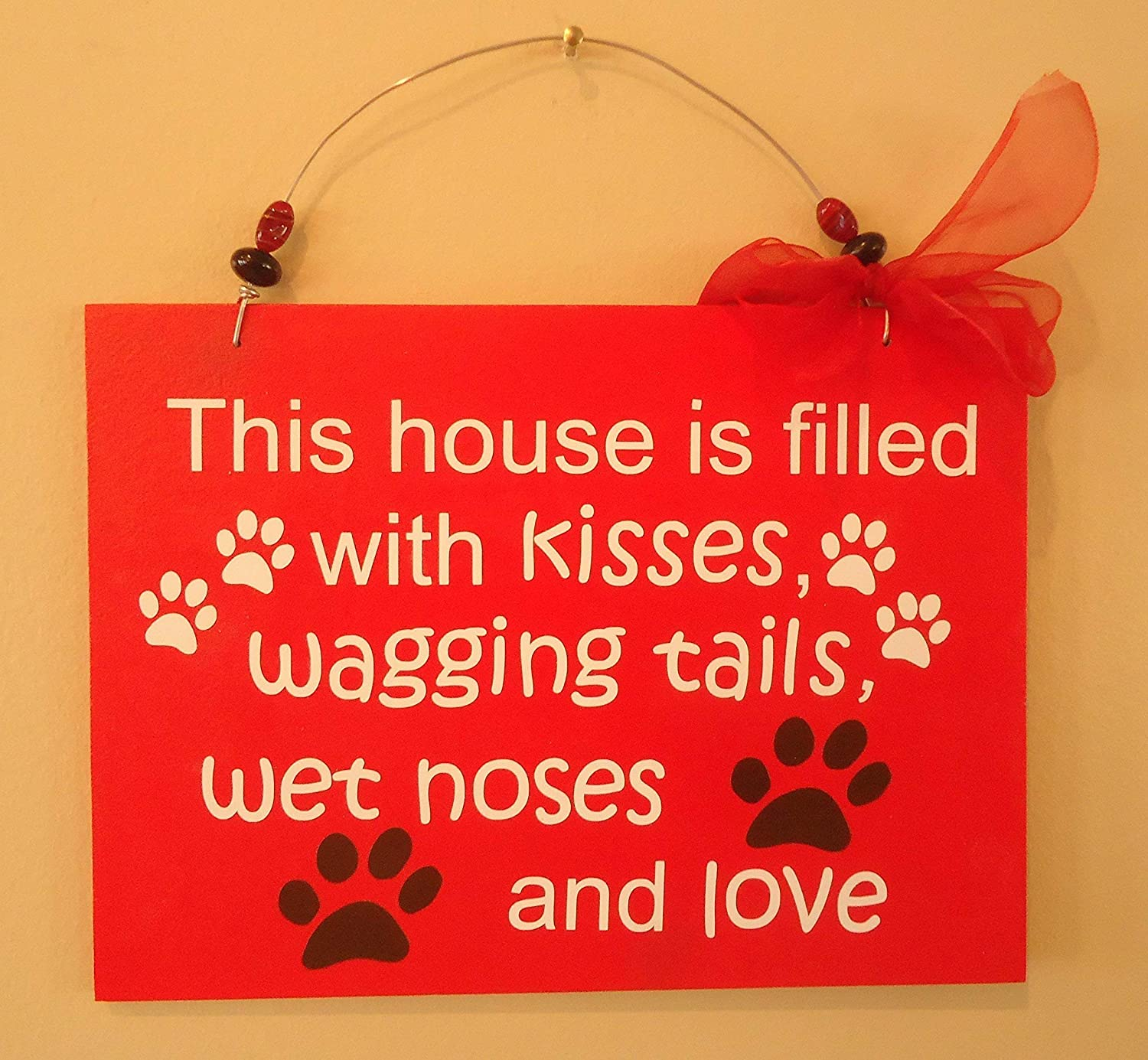 Red overseas Dog Pet Lovers Decor Wooden Clearance SALE Limited time Home Sign