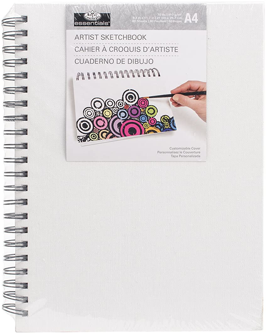 Essentials(TM) Canvas Cover Sketchbook 8.3
