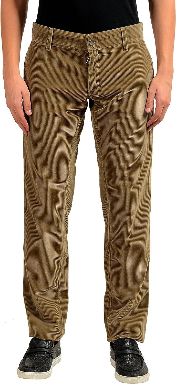 Dolce & Gabbana Men's Brown Corduroy Casual Pants US 28 IT 44