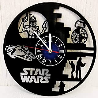 Star Wars REX HAN Solo Wall Clock Made from 12 inches / 30 cm Vintage Vinyl Record | Star Wars Gift for Men Boys Husband | Star Wars YODA Clock | Star Wars Merchandise | Luke Skywalker vs Darth Vader