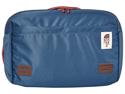 The North Face Travel Duffel Pack (Blue Wing Teal/Barolo Red) Backpack Bags