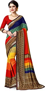 Oomph! georgette with blouse piece Saree