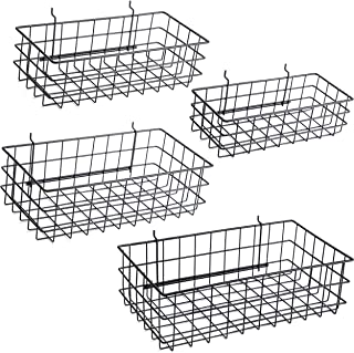Pegboard Baskets Set of 4 Black - Hooks to 1/4