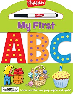 My First ABC: Learn, practice, and play again and again! (Highlights™  My First Write-On Wipe-Off Board Books)