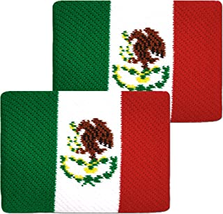 Unique Sports Flag Wristbands, Mexico Flag sweatbands