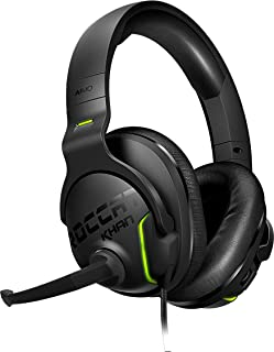 ROCCAT Khan AIMO - 7.1 Surround Gaming Headset, Hi-Res Sound, USB, AIMO LED Illumination, Mutable Real-Voice Microphone, black