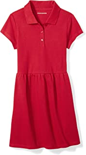 Amazon Essentials Girls' Short-Sleeve Polo Dress