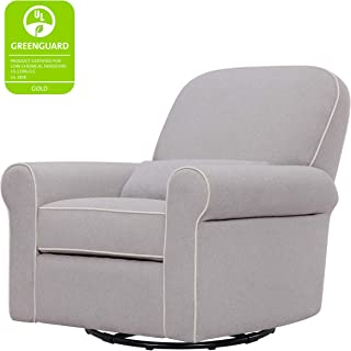 Davinci Ruby Recliner and Swivel Glider, Gray and Cream