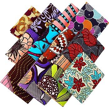 African Cotton Fabric Wax Print Ankara Fat Quarter Bundle or Per Yard
