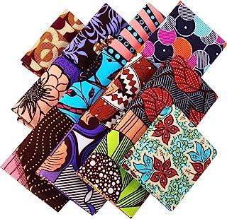 Tessuto Africano Larga in 19,5 x 15,7 Pollici/ 50 x 40 cm Tessuto di Sampa Ankara di Cucire Tessuto Africano della Stampa ...