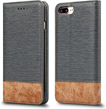 for iPhone 7 Plus/iPhone 8 Plus Case,WenBelle [Blazers Series] Stand Feature,Premium Soft PU Color Matching Leather Wallet Cover Flip Cases for Apple iPhone 7 Plus/iPhone 8 Plus 5.5 Inch (Grey)