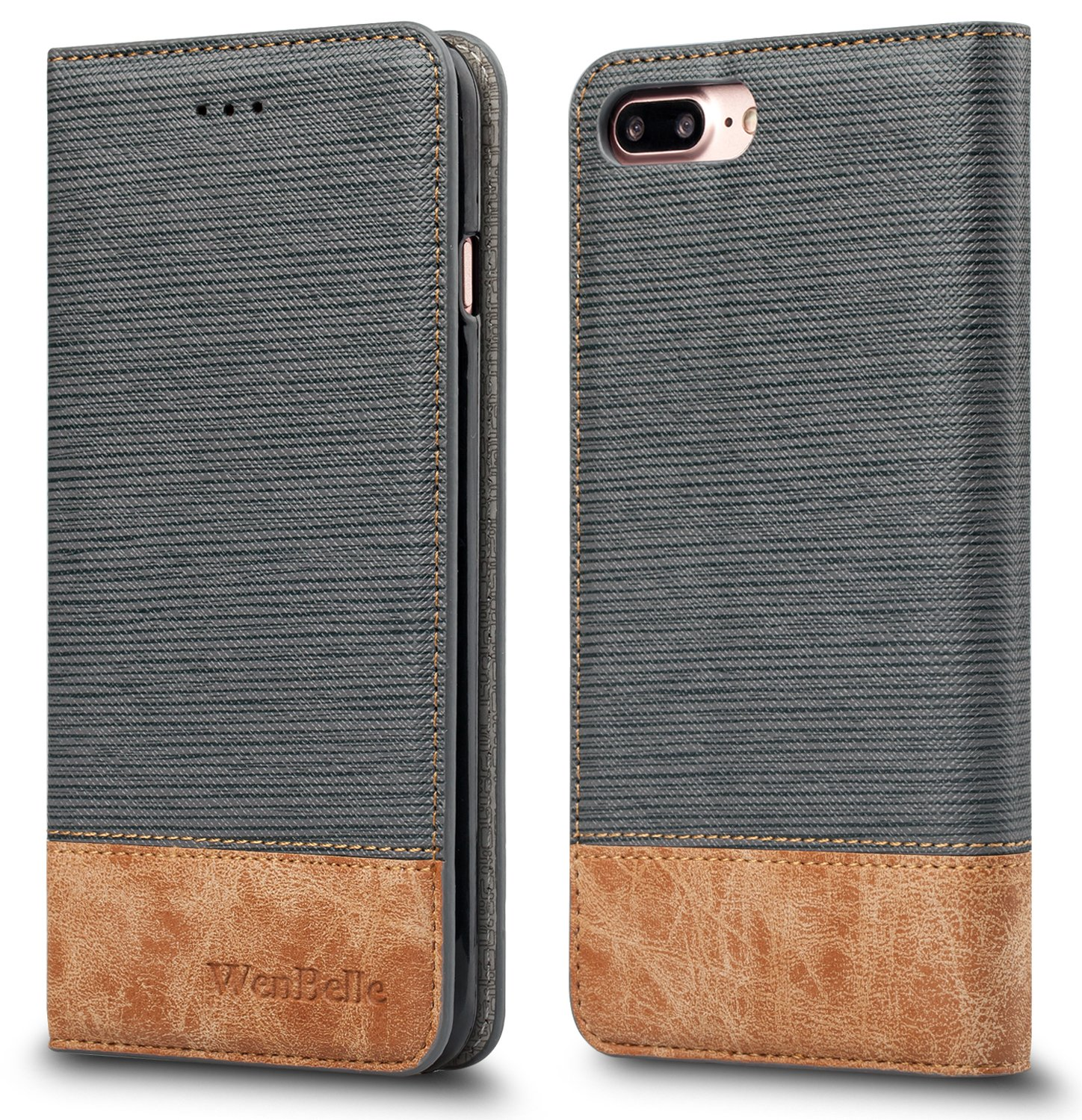 leather case for an iphone 7 plus amazon comfor iphone 7 plus iphone 8 plus case,wenbelle [blazers series] stand