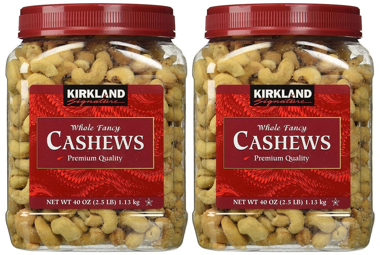 Kirkland Signature Outlet sale feature Whole Columbus Mall Cashews 2-pack 2.5 lb. Fancy Two Jars