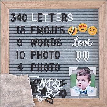 25,4 x 25,4 cm STOBOK Lavagna per lettere in feltro con supporto in forbici e 580 lettere con borsa portaoggetti