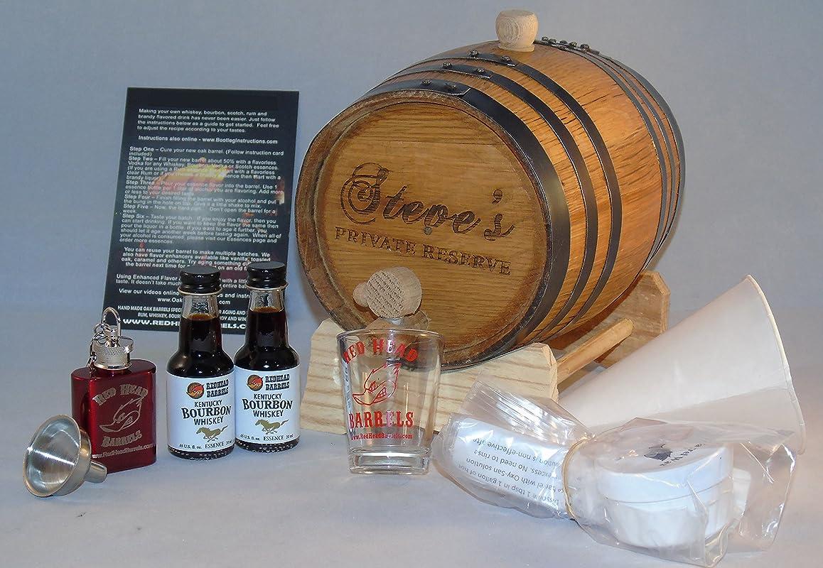 2 Liter Custom Engraved American White Oak Whiskey Flavoring Gift Set Kentucky Bourbon