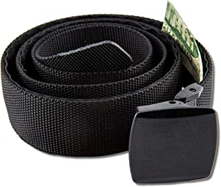 ON THE ROAD Nylon Belt Hidden Money Pocket Metal Free Airport Friendly Plastic Buckle Gift Box