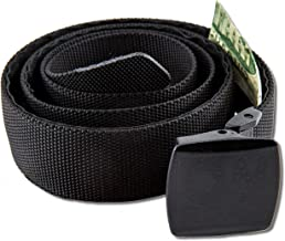 ON THE ROAD Nylon Belt Hidden Money Pocket Metal Free Airport Friendly Plastic Buckle Gift Box