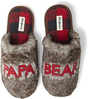 Dearfoams Men's Papa Bear Slipper, Ciabatte Uomo, Braun Frost X-Larga, X-Large EU