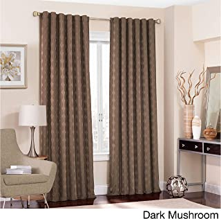 Eclipse Adalyn Thermalayer Blackout Window Curtain Panel Dark Mushroom 52x108 108 Inches