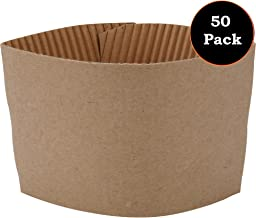 1InTheOffice Corrugated Coffee Cup Sleeves for 10oz 12oz 16 oz(50)