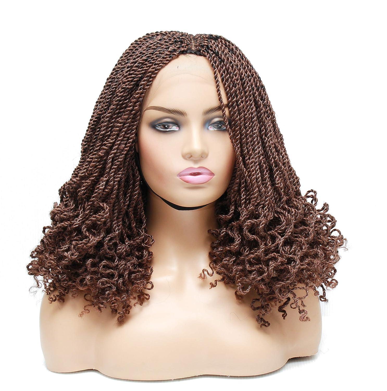 Braided wigs- [Alternative dealer] wigs for black women- Lace twist wig- kinky 5 ☆ very popular front