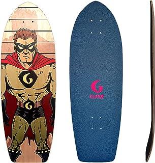 Glutier Surfskate Deck Villain Stone 29 Skate Skat...